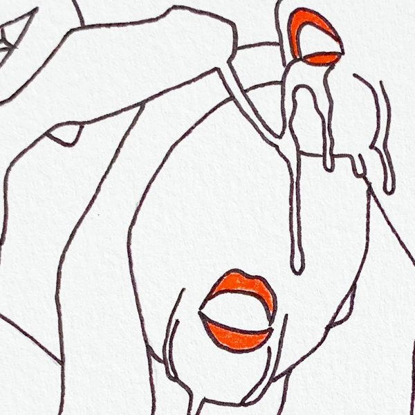 Drooling - Original Zeichnung