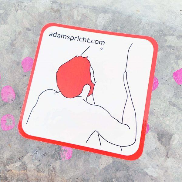 Adam spricht - Sticker: Leck