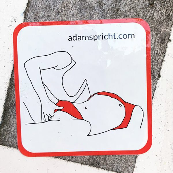 Adam spricht - Sticker: Griff