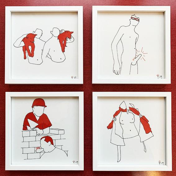 4 Zeichnungen | Adam spricht